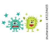 couple of virus  germ  bacteria ... | Shutterstock .eps vector #692154655