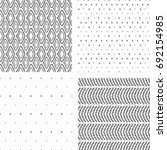 seamless set pattern tribal... | Shutterstock .eps vector #692154985
