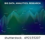 info graphics line chart on a... | Shutterstock .eps vector #692155207