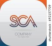 logo letter combinations s  c... | Shutterstock .eps vector #692157709