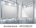 loft art gallery with blank... | Shutterstock . vector #692158225