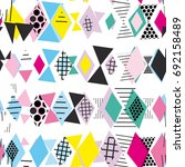 geometric elements memphis... | Shutterstock .eps vector #692158489