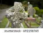 old church yard  cemetery | Shutterstock . vector #692158765