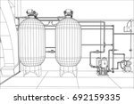 water purification station....   Shutterstock .eps vector #692159335