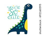 cute dino illustration. | Shutterstock .eps vector #692160595