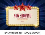 bright red marquee with light... | Shutterstock .eps vector #692160904