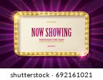 bright red marquee with light... | Shutterstock .eps vector #692161021