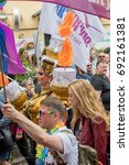 Small photo of CSD Hamburg - Christopher Street Day Hamburg Germany 08/05/2017 - annual European LGBT celebration and demonstration against discrimination and exclusion
