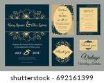 wedding invitation design... | Shutterstock .eps vector #692161399