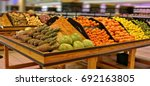 fruits and vegetables on... | Shutterstock . vector #692163805