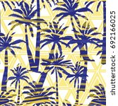 palm tree  pattern  vector ... | Shutterstock .eps vector #692166025