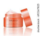 hydrating facial cream for... | Shutterstock .eps vector #692167825