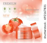 hydrating facial tomato cream... | Shutterstock .eps vector #692167831