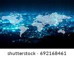 digital technology and world... | Shutterstock . vector #692168461
