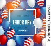 labor day sale promotion... | Shutterstock .eps vector #692169034