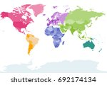 vector world map colored by... | Shutterstock .eps vector #692174134
