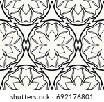 black and white geometric line... | Shutterstock .eps vector #692176801