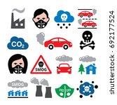 smog  pollution  anti pollution ... | Shutterstock .eps vector #692177524