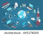 wireless technology infographic ... | Shutterstock . vector #692178205