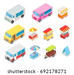 minivans for street food... | Shutterstock . vector #692178271