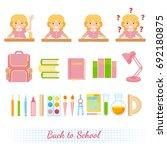 schoolchild avatar flat and...   Shutterstock .eps vector #692180875