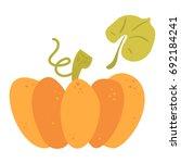 cartoon flat pumpkin side view. ... | Shutterstock .eps vector #692184241