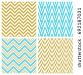 set of chevron seamless patterns | Shutterstock .eps vector #692187031