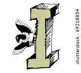 grotesque abc  scribble letter... | Shutterstock . vector #69218854