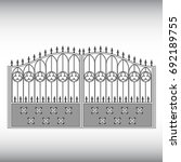 gates forged  fence | Shutterstock .eps vector #692189755
