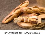 still life with french fresh... | Shutterstock . vector #692192611