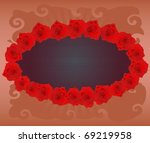 abstract background with roses... | Shutterstock . vector #69219958