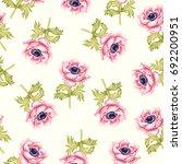anemones. garden flowers... | Shutterstock . vector #692200951
