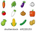 cartoon vegetables | Shutterstock .eps vector #69220153