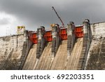 water gate front of the large... | Shutterstock . vector #692203351