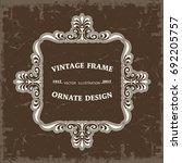 frame in vintage style | Shutterstock .eps vector #692205757