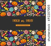halloween trick or threat... | Shutterstock .eps vector #692207005