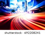 abstract speed technology... | Shutterstock . vector #692208241