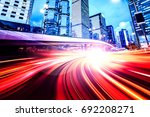 abstract speed technology... | Shutterstock . vector #692208271