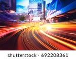 abstract speed technology... | Shutterstock . vector #692208361