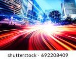 abstract speed technology...   Shutterstock . vector #692208409