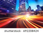 abstract speed technology... | Shutterstock . vector #692208424