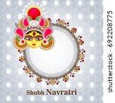 happy navratri festival  design ... | Shutterstock .eps vector #692208775