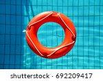 Red Lifebuoy Pool Ring Float ...