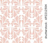 abstract beige floral pattern.... | Shutterstock .eps vector #692212504