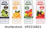 healthy food  banners set.fresh ... | Shutterstock .eps vector #692216821