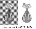 transparent plastic or cloth... | Shutterstock .eps vector #692219674