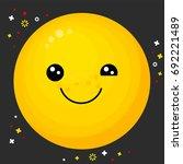 flat line emoji icon. emoticon... | Shutterstock .eps vector #692221489