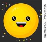 flat line emoji icon. emoticon...   Shutterstock .eps vector #692221495