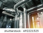 ventilation pipes and ducts of... | Shutterstock . vector #692221525