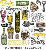 october fest. vector  beer... | Shutterstock .eps vector #692224705